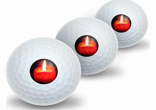 Christmas Candle - Advent Wreath Holiday Novelty Golf Balls 3 Pack