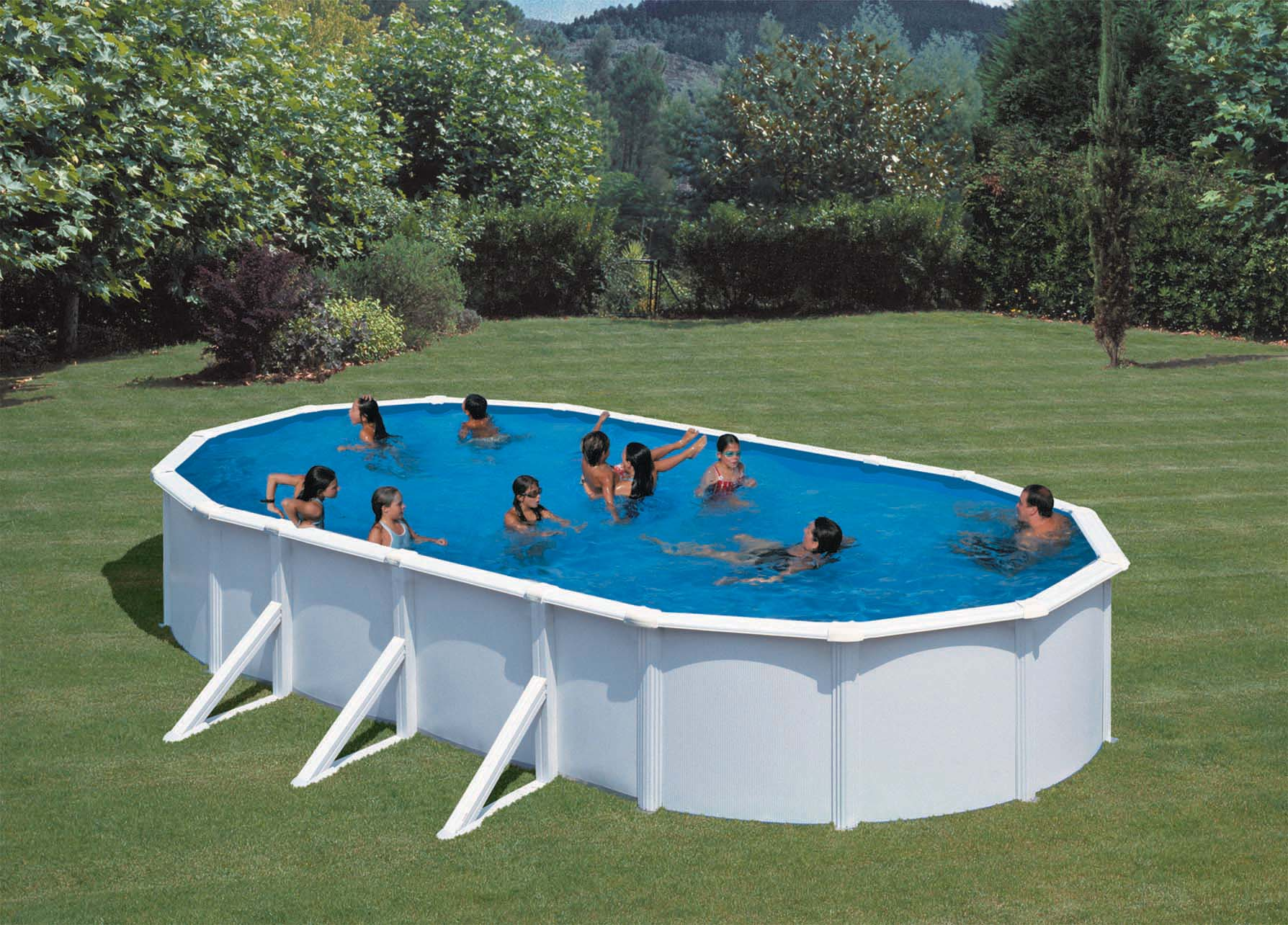 Pool oval joy studio design gallery best design for Pool prices