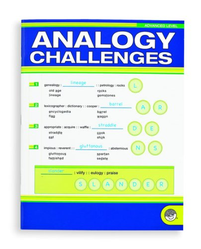 Analogy Challenges Advanced - CLICK FOR MORE INFORMATION