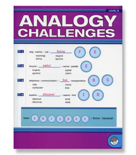 Analogy Challenges B - CLICK FOR MORE INFORMATION