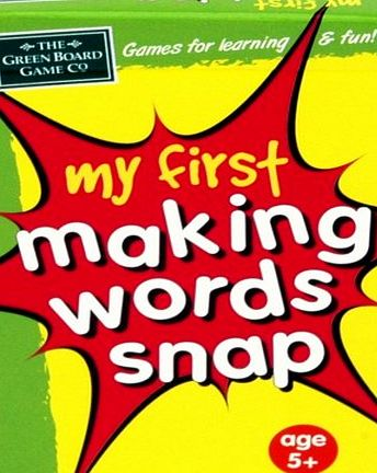 My First Making Words Snap - CLICK FOR MORE INFORMATION