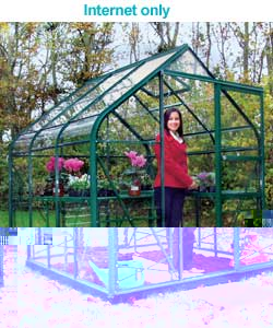 Curved Eaves Greenhouse with Safety Glass - 6x4ft