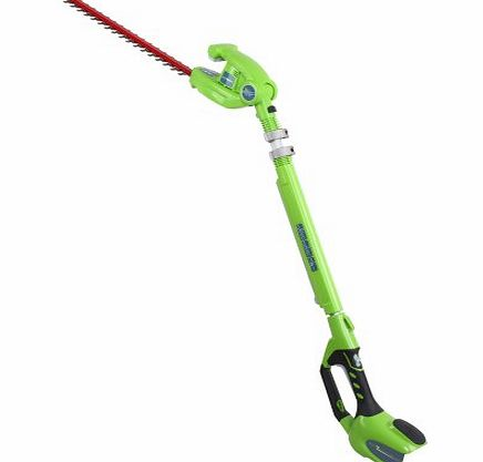 51cm (20) 40V Lithium-Ion Cordless Battery Long Reach Hedge Trimmer