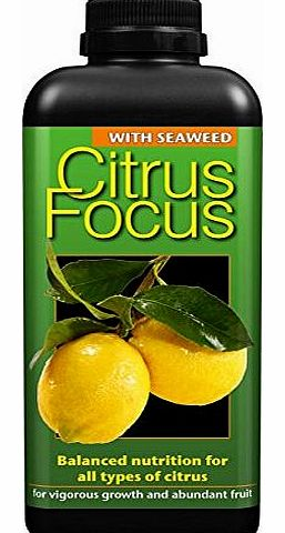 Growth Technology Ltd Citrus Focus Balanced Concentrated Liquid Fertiliser 1 Litre