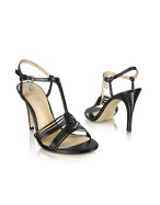 Ghosting - Black Leather Sandal Shoes