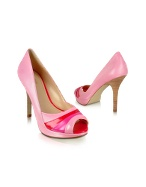 Hype - Pink Patent Peep-Toe Pump Shoes