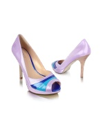 Hype - Purple Patent Peep-Toe Pump Shoes