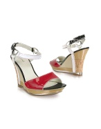 Tree - Patent Leather Wedge Sandal Shoes