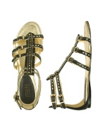 Zinger - Black Leather Gladiator Sandal Shoes