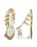 Zinger - White Leather Gladiator Sandal Shoes