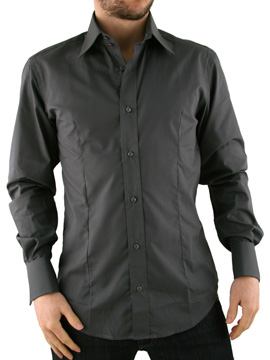 Guide London Anthracite Double Cuff Shirt product image