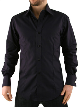 Guide London Navy Double Cuff Shirt product image