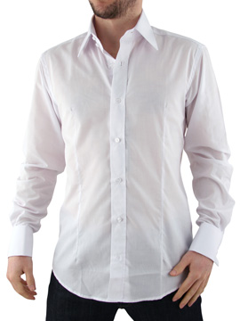 Guide London White Double Cuff Shirt product image