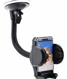 Guilty Gadgets - Windscreen Mount Car Holder For Samsung Galaxy Note 2, 3, Bend, S, S3, S4, S5, S6, i9100, i9200, i9250, GT-N7000, i9300, Ace S5830, S4 i9500, Apple iPhone 4, 4s, 5, 5s, 5c, 6, 6 Plus,