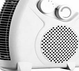 Guilty Gadgets ® - 2000w 2kw Portable Powerful Electric Floor Fan Heater Hot amp; Cool