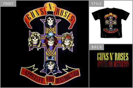 guns n roses logo. Cheap guns n roses T Shirts