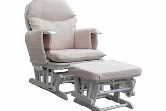 Habebe Glider Rocking Nursing Maternity Recliner Chair with footstool ***WITH BRAKE + WASHABLE COVERS*** product image