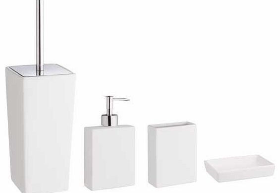 Habitat starter white bathroom accessories set bathroom for White bathroom accessories set