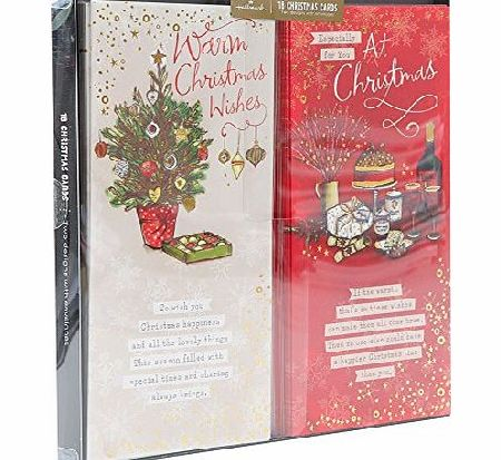 Hallmark Christmas Wish Traditional Boxed Card - Gold Foil (Pack of 18)