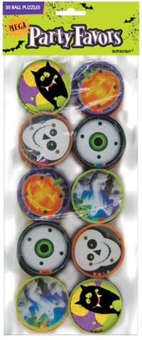 Halloween themed ball puzzles for lucky dips, party loot bags and trick or treat gifts. Its a great value way to fill a lot of loot bags. - CLICK FOR MORE INFORMATION