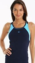 Halocline, 1294[^]236768 Sport Racer Tankini Top - Navy and Blue