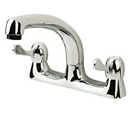 Stylish, modern chrome-plated Taps with ceramic discs and quarter-turn operation. BS 5412. - CLICK FOR MORE INFORMATION