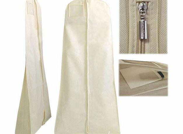 hangerworld breathable wedding gown dress garment clothes cover bag 72 zip with secret. Black Bedroom Furniture Sets. Home Design Ideas