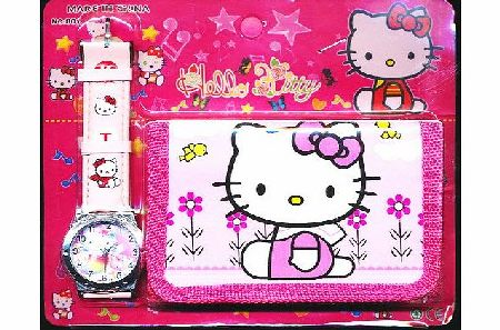 Happy Bargains Ltd Hello Kitty Childrens Watch Wallet Set For Kids Children Boys Girls Great Christmas Gift Gifts Present - Sold by Happy Bargains Ltd (Colours and Designs May Vary) product image