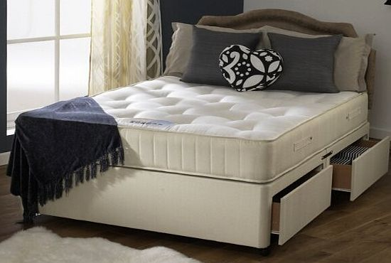 Happy beds divan bed set ortho royale orthopaedic mattress for King size divan bed no mattress