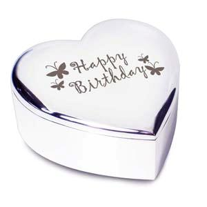 Happy Birthday Butterflies Heart Trinket product image