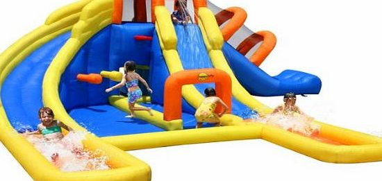 Happy hop duplay happy hop mega fun 24ft water park bouncy for Happy hop inflatable water slide
