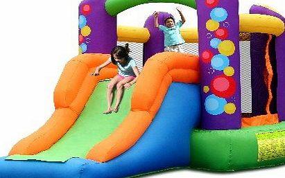 Mega 24ft water slide bouncy castle hot girls wallpaper for Happy hop inflatable water slide