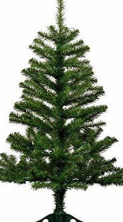 Harbour Housewares 4ft (120cm) Artificial Pine Christmas Tree With Stand