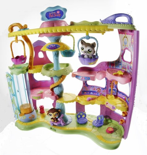 Littlest Pet Shop Play And Display Pet Town Playset
