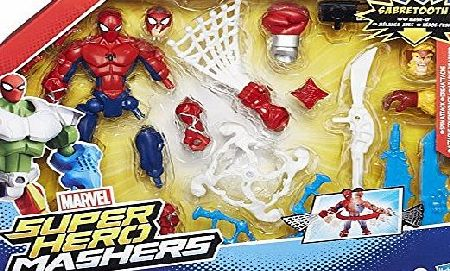 Hasbro Marvel Avengers Super Hero Mashers Feature Spider-Man Action Figure B0679