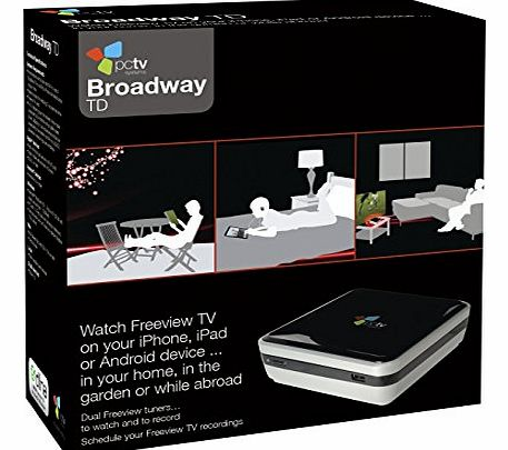 Hauppauge PCTV Systems Broadway - Watch LIVE TV on your Android or Apple device, Mac or PC anywhere in the World (over WiFi or 3G). Connect Freeview, Cable, Satellite set top boxes. Stream two channels at once.