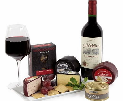 Hay Hampers Red Bordeaux, Pate and Cheese Gift Box product image