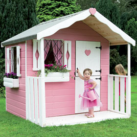 Pine playhouse for Cheap outdoor playhouses
