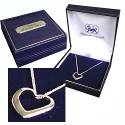 Heart Necklace with Personalised Gift Box