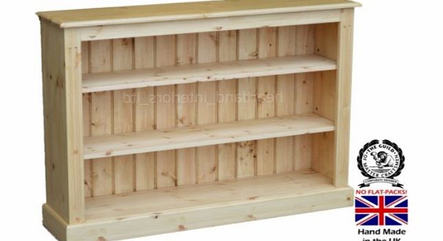 Heartland Pine Solid Pine Bookcase, 3ft x 4ft Handcrafted