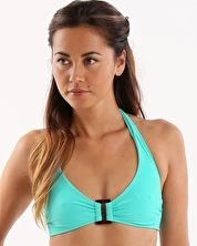 Heidi Klein, 1295[^]242945 Sitges Rectangle Halter Top - Green
