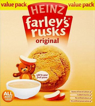 Heinz, 2041[^]10016412 All Ages 4-6 Months Onwards Farleys Rusks