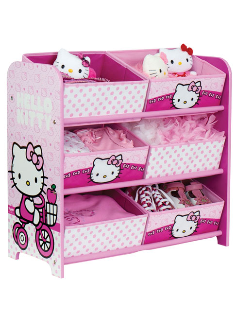 Hello Kitty Toy Bin : Fabric toy storage unit