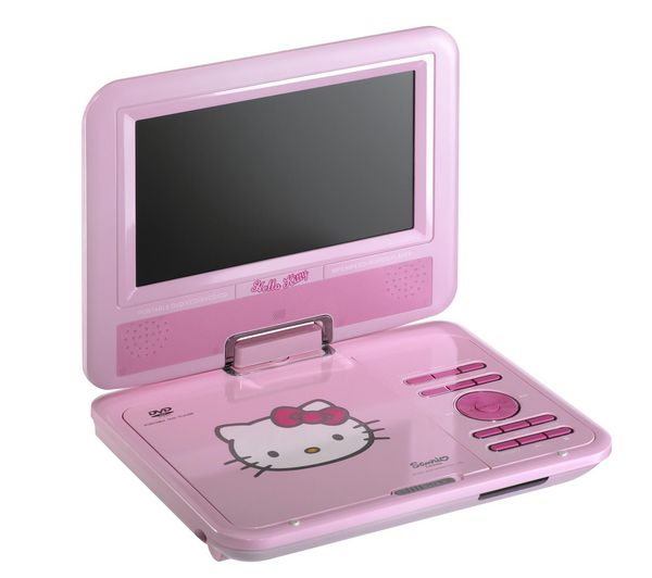 Hello Kitty 7 Portable DVD Player - Pink