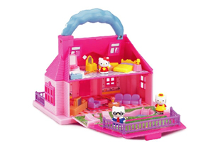 Carry Along Mini Doll House Playset