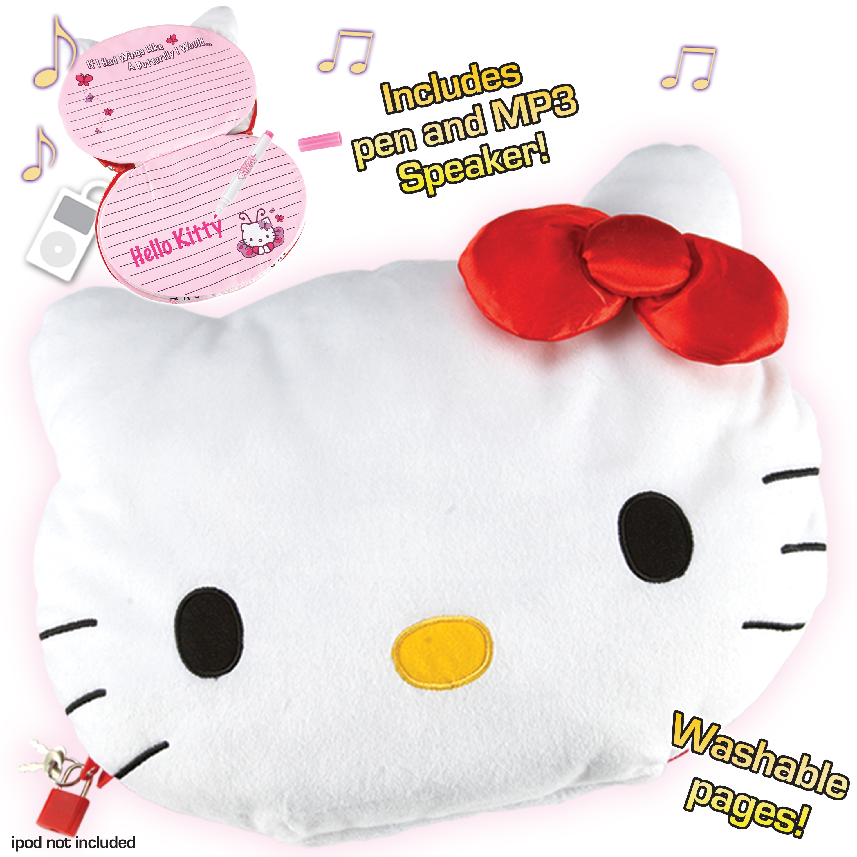 Hello Kitty Tablet Pillow: Childrens Cd Players
