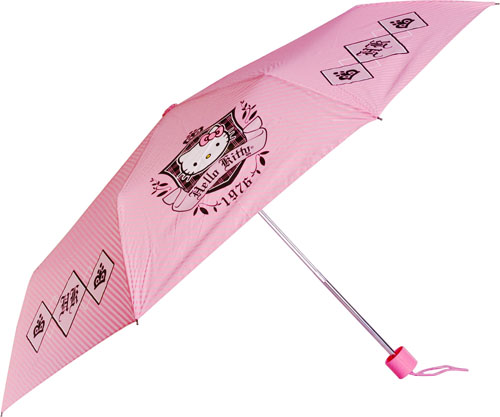 tresses from the rain in style with this Hello Kitty inspired umbrella.