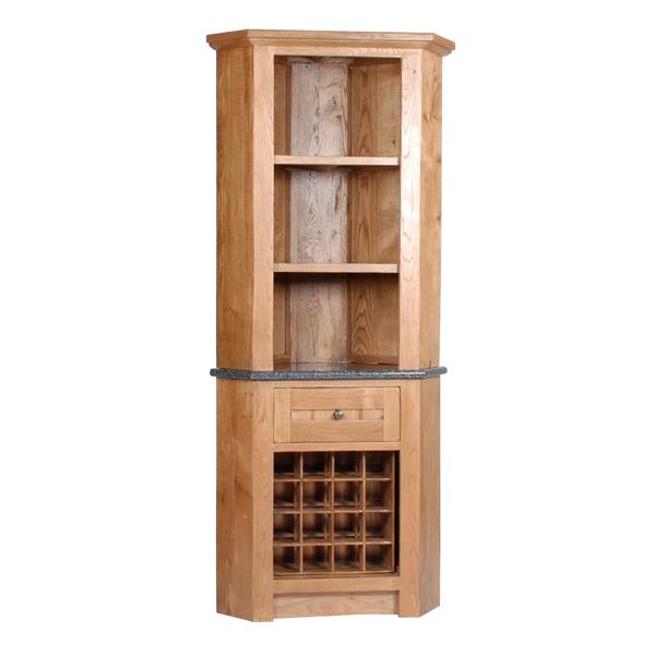 Wine Racks Henbury Corner Unit With 1 Drawer Wine Rack