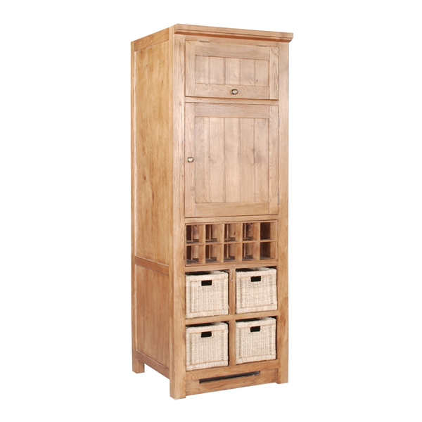 Solid oak wine rack - Tall corner wine rack ...