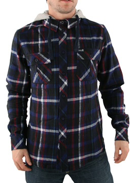 Henleys Navy Grassup Hooded Shirt product image